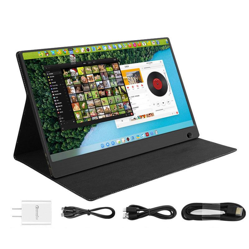 WIMIXIA 1560CT 15.6 pouces 1080P HD Écran tactile 16: 9 mini-écran de télévision