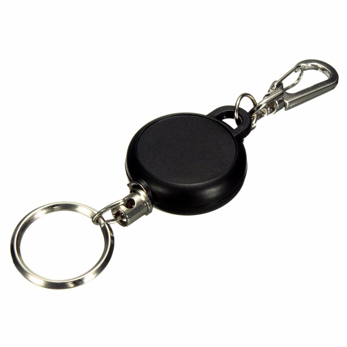 Key Chain Stainless Steel Cord Holder Keyring Reel Retractable Recoil Belt  Clip Key Clip COD 55d966f2e