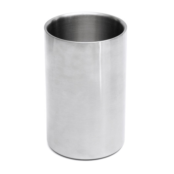 1600ml Stainless Steel Cooling Beer Cooler Ice Bucket Brushed Wine