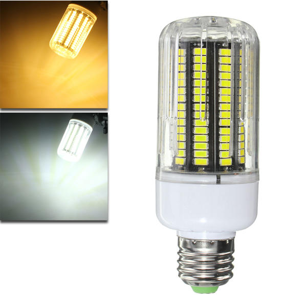 E27 E14 E12 B22 15W 170 SMD 5730 LED 1200Lm Pure White Warm White Cover Corn Bulb AC110V