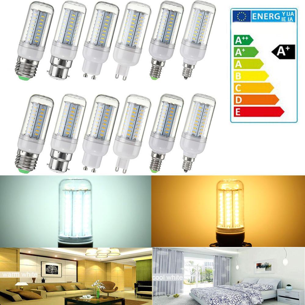 Dimmable AC110V SMD4014 5W 64LED lampe de lampe de maïs E27 E14 E12 B22 GU10 G9