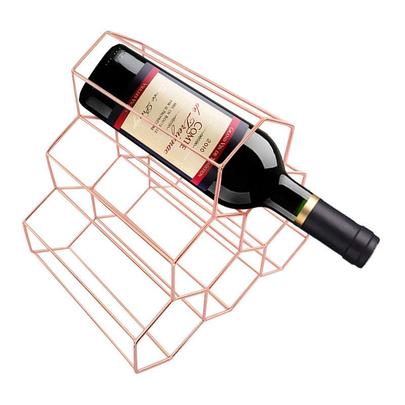 Creative Triangle 6 Bottle Wine Shelf Rack Organizer