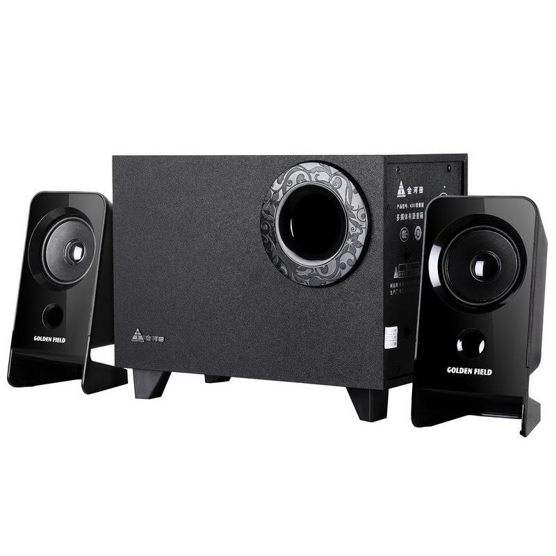 Altoparlante per computer subwoofer audio in legno Supporto stereo per cuffia stereo a 2.1 canali Supporto per schede TF U-Disk AUX-in