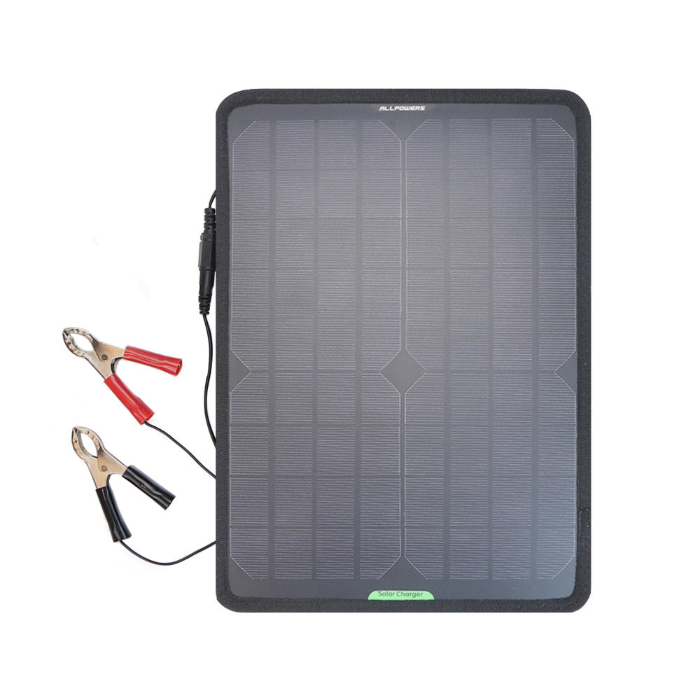 ALLPOWERS 12V 10W Solar Panel Car Battery Maintainer Charger for Vehicle Boat Motorcycle