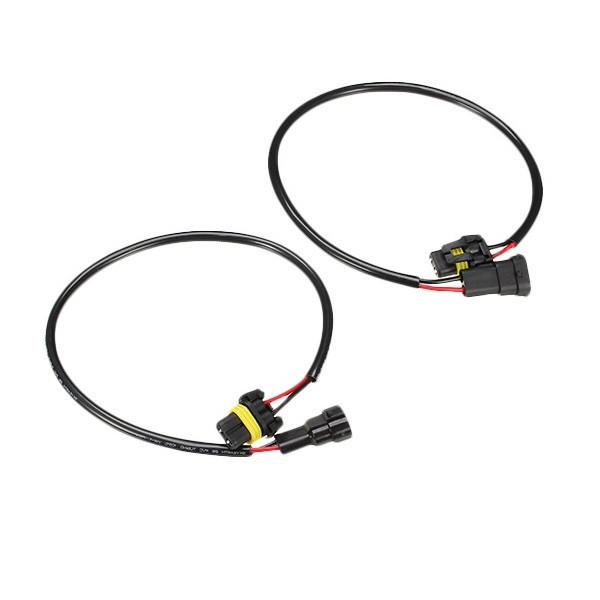 2pcs harness for h11 connector hid light headlight fog lamp male to femal wire cable sale