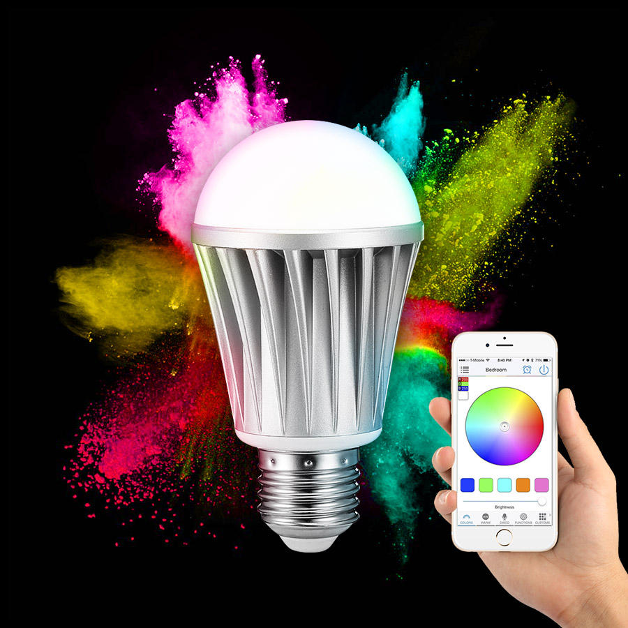 ARILUX® HL-LS01 E27 7W RGBW bluetooth 4.0 Dimmable LED Smart Bulb for iPhone iPad and Android Phones