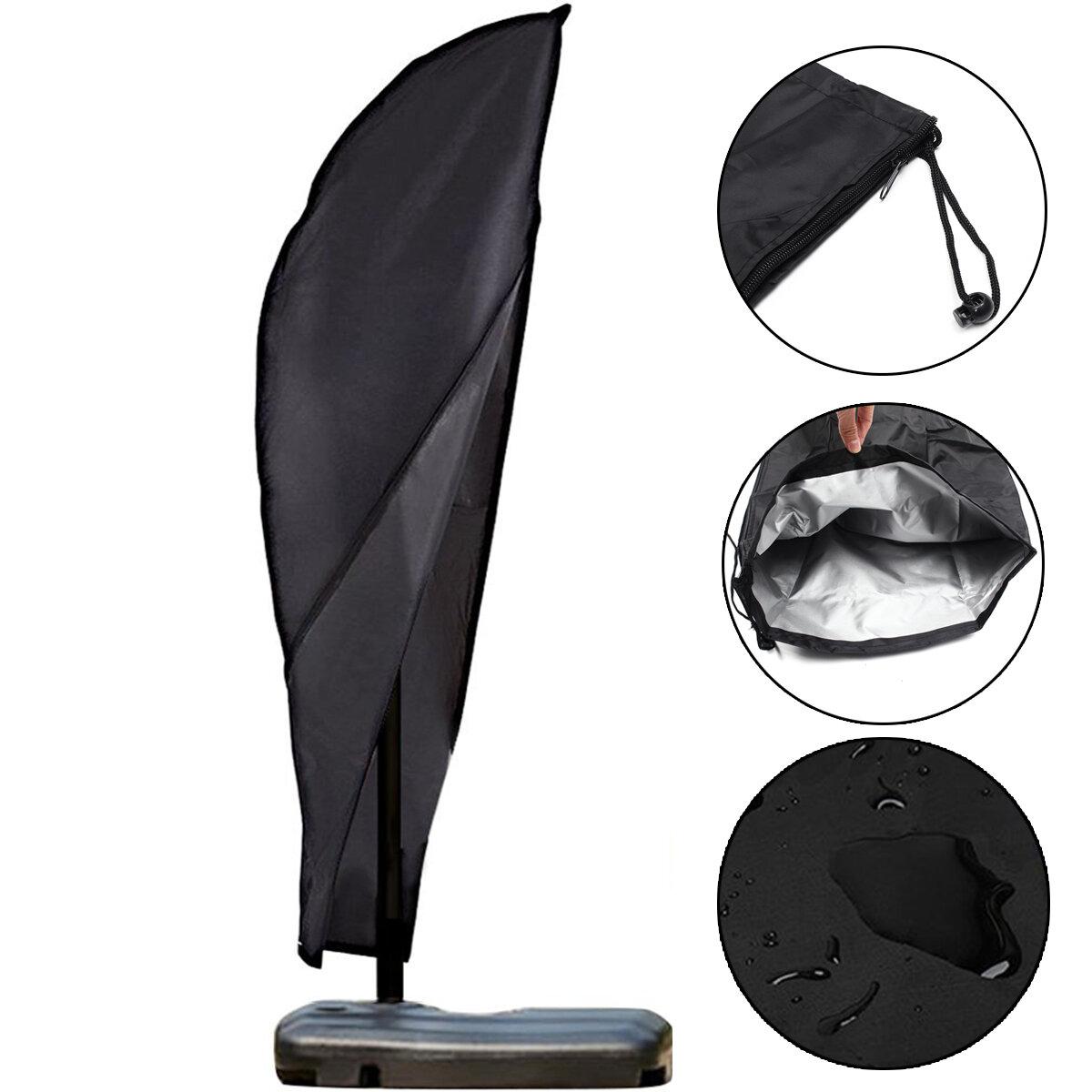 Garden Outdoor 9 11ft Offset Umbrella Frame Cover Waterproof Cantilever Umbrellas Parasol With Zipper Oxford Fabric Cod