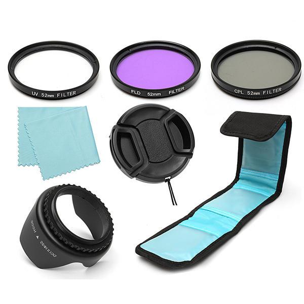 7 قطع 52 ملليمتر UV cpl الإستقطاب عدسة فلتر تصفية عدة ل Canon Nikon الة تصوير