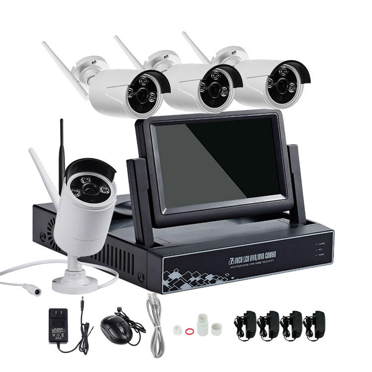 Hiseeu 4CH 7 Inch Displayer NVR 960P inalámbrico IR visión nocturna Cámara Security IP Kit de Vigilancia