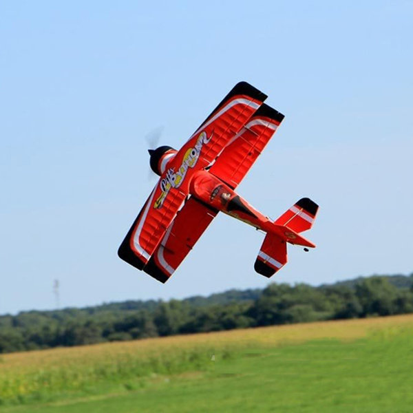 Dynam Pitts Model 12 Red 1070mm Wingspan RC Airplane PNP