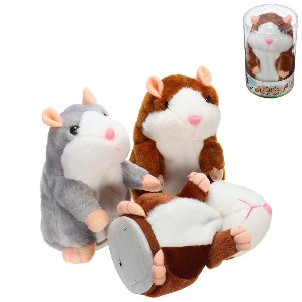 Mimicry Talking Hamster Pet 15cm Christmas Gift Plush Toy Cute Speak Sound Record Hamster Stuffed Animal Toys