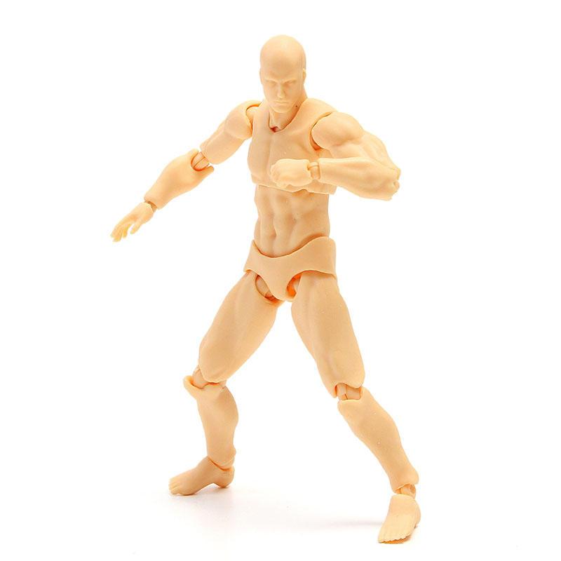 Anime Clear Crystal Archetype Action Figure 2.0 Poupée Homme Couleur de la peau Bricolage Action Figure Toy modèle