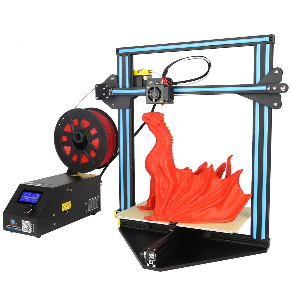 Creality 3D® CR-10 Acrylic Seat Version DIY 3D Printer Kit Support Resume Print 300*220*300mm Printing Size 1.75mm 0.4mm Nozzle