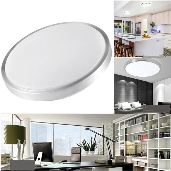 12W 24W Modern Acrylic LED Ceiling Light Round Flush Mount Panel Down Lamp for Kitchen AC110-220V