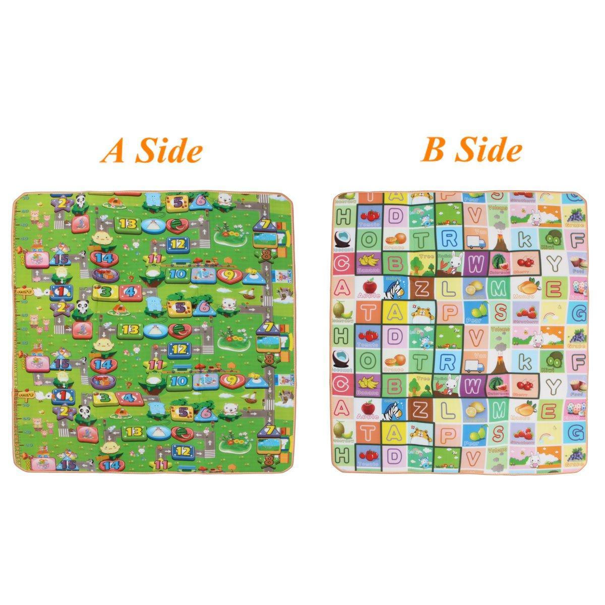 Tapis 2mx1.8m double tapis AB de tapis de jeu pour bébé, tout-petits, 20 mm d'épaisseur, XL