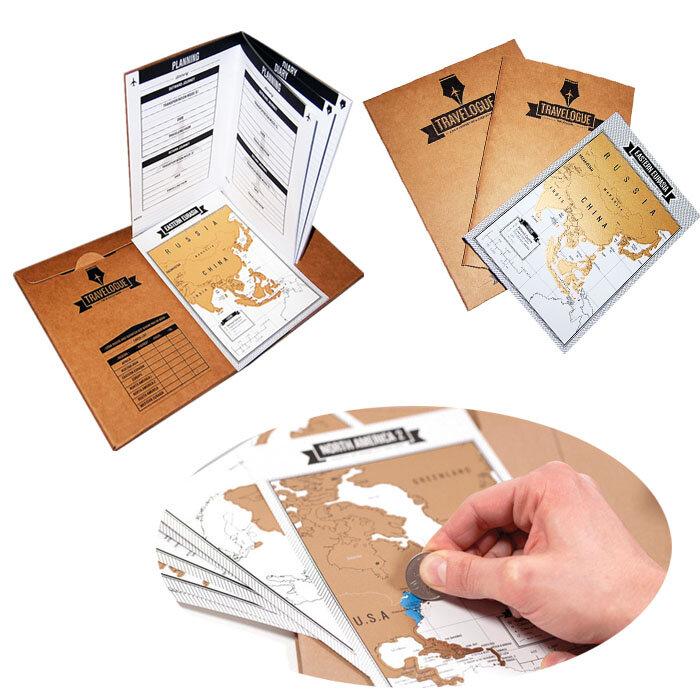 Log avventura 8pcs mini mappe 1pcs di spedizione zero creativo mondo regalo programma mappa nota giornaliera