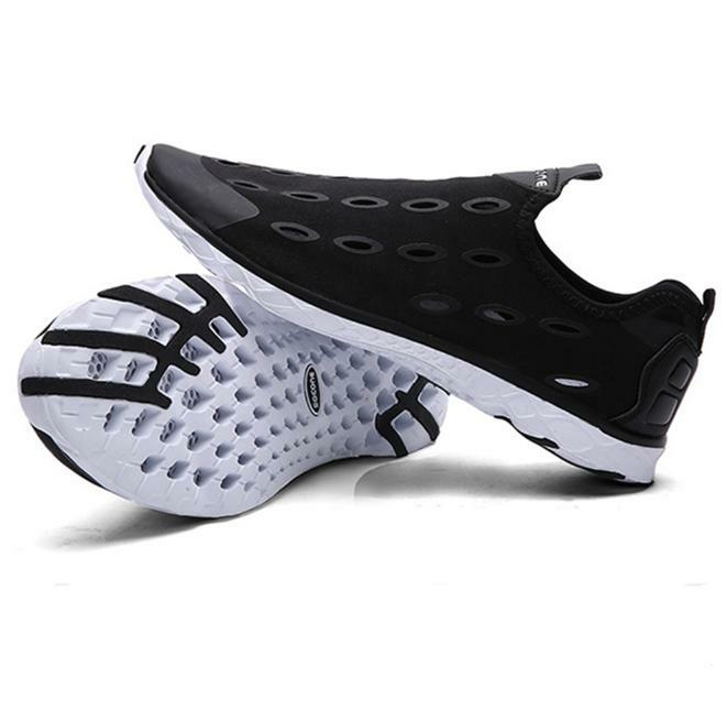 SOCONE Hommes Eau Eté Respirant Slip Sur Plage Sneakers Natation Sandales Patauger Chaussures Rapides