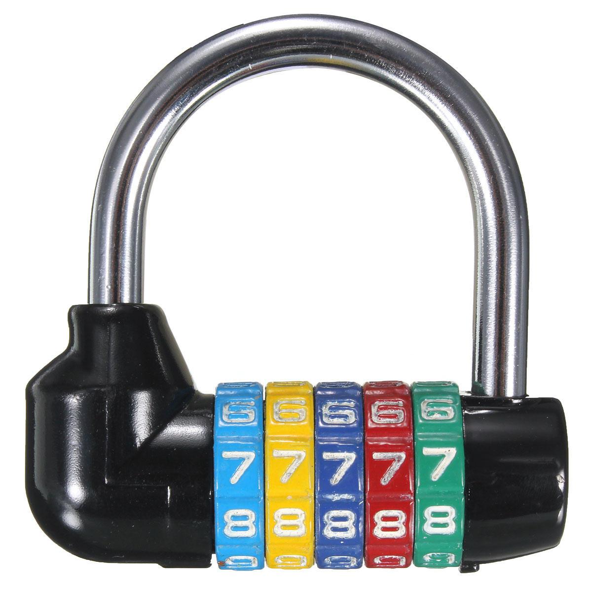 Réinitialisable 5 Chiffres Mot de passe Combinaison Cadenas Serrure Sécurité Cabinet Scolaire Casier
