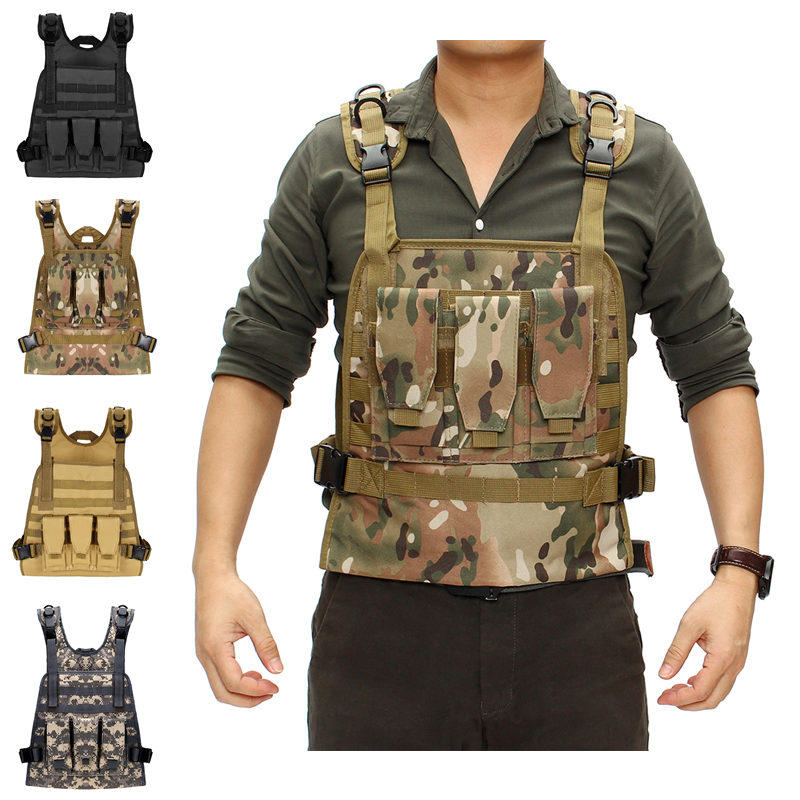Camping & Hiking Outdoor Tactical Vest Wireless Call Machine Vest Vest Chest Bag Holster Bag