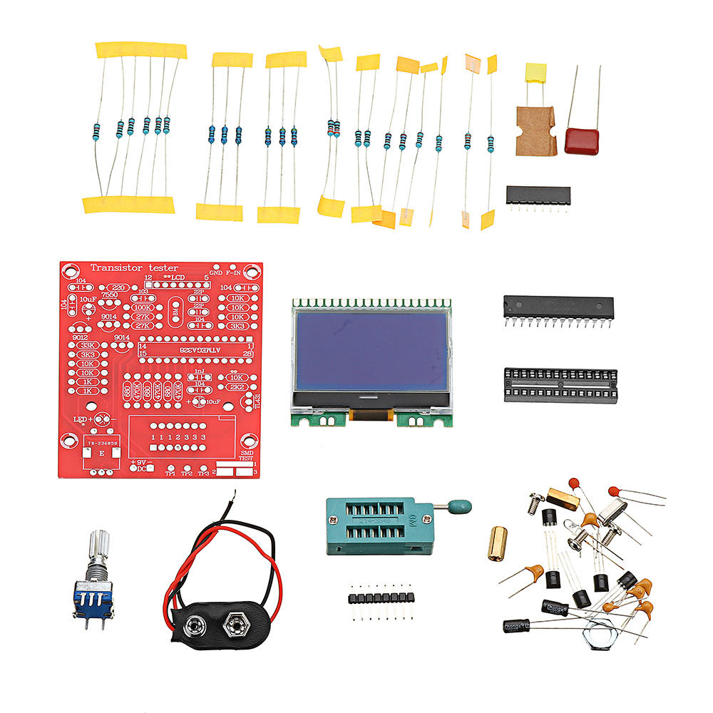 Original Hiland Diy M12864 Graphics Version Lcr Esr Pwm Transistor How To Build Pic Diode Tester Kit
