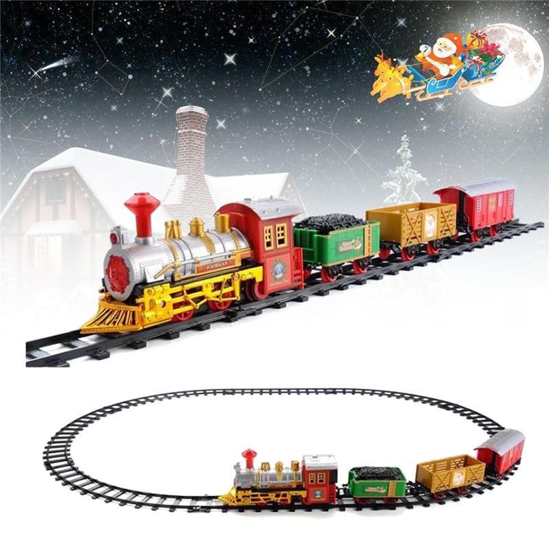 Trenino elettrico di Natale con suono e musica per bambini Regalo per bambini Modello di locomotiva Giocattoli