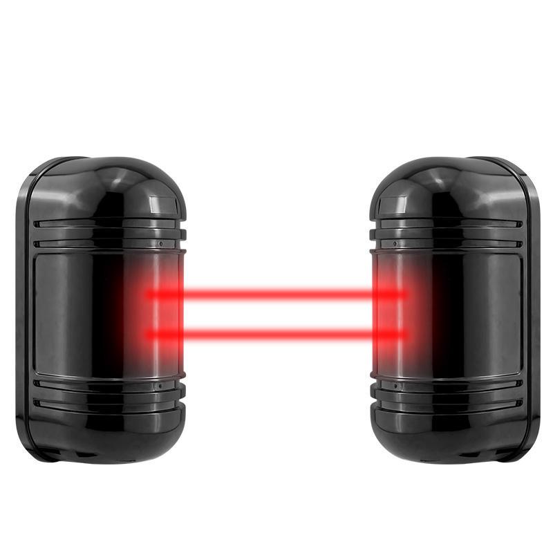 Filaire Active Infrarouge Alarme Intrusion Détecteur Double Faisceau Capteur 100 M Extérieur Périmètre Barrière Clôture Pour GSM Système D'alarme