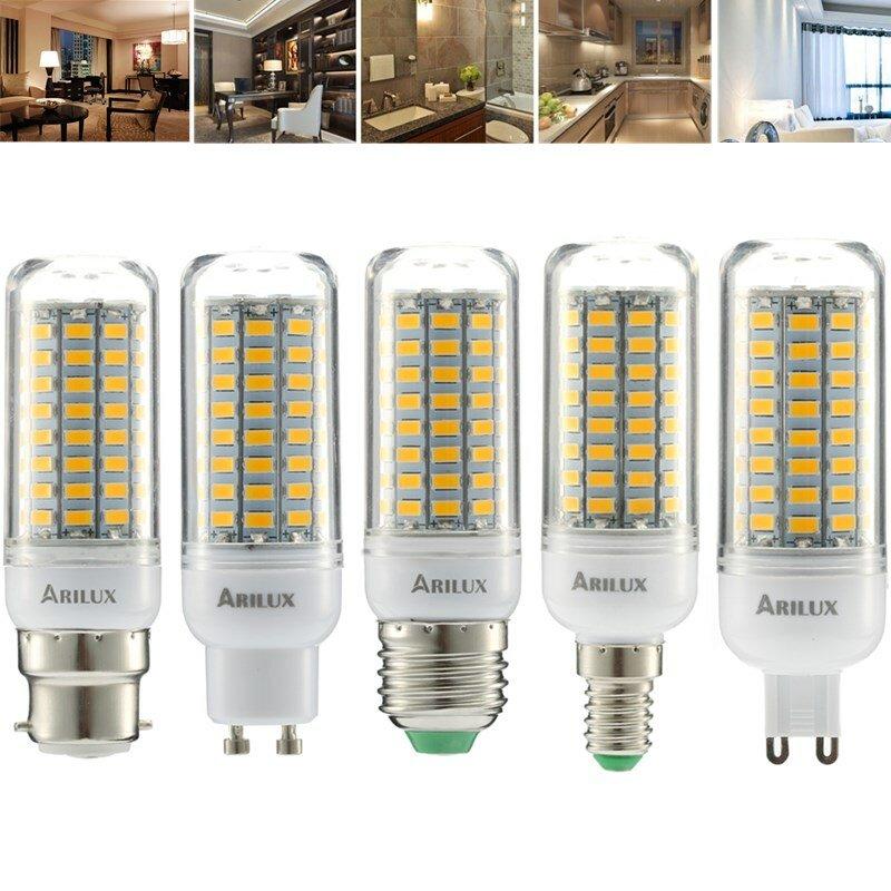 ARILUX® E27 E14 B22 GU10 G9 5W SMD5730 Постоянный ток Смарт IC 89LEDs Кукурузовая лампа AC220V