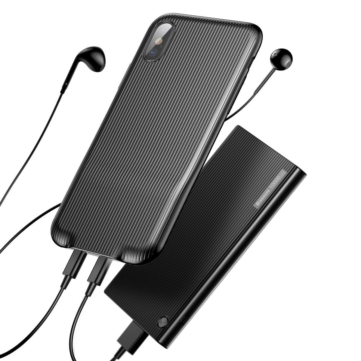 Baseus Adapter Splitters Aux Ondersteuning Oortelefoon & Opladen Sync Data Audio Case voor iPhone X
