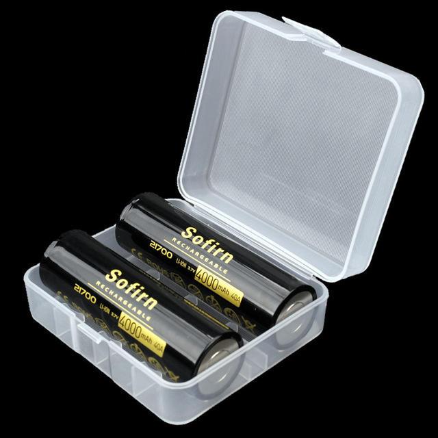 2Pcs Sofirn 3.7V 40A 4000mAh 21700 Rechargeable Li-ion Battery