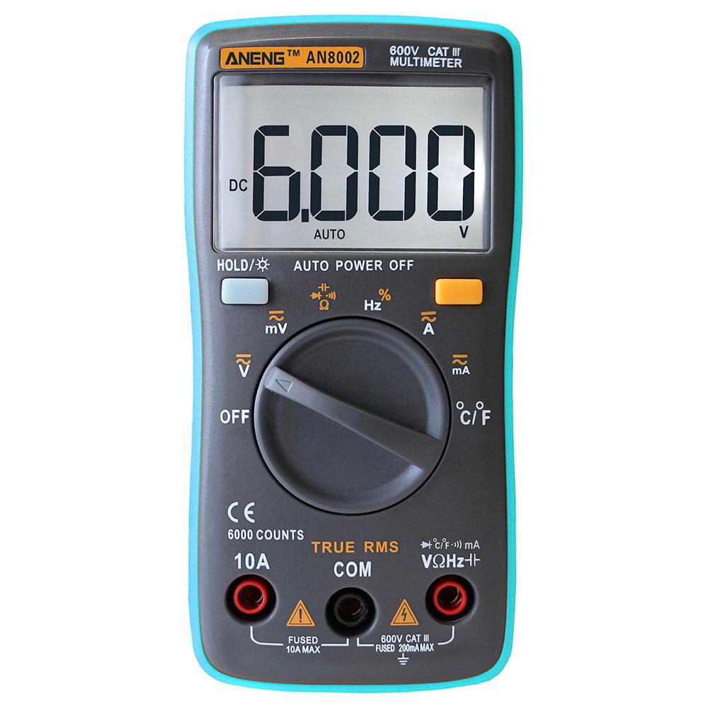 Multimetr cyfrowy ANENG AN8002 za $12.88 / ~49zł