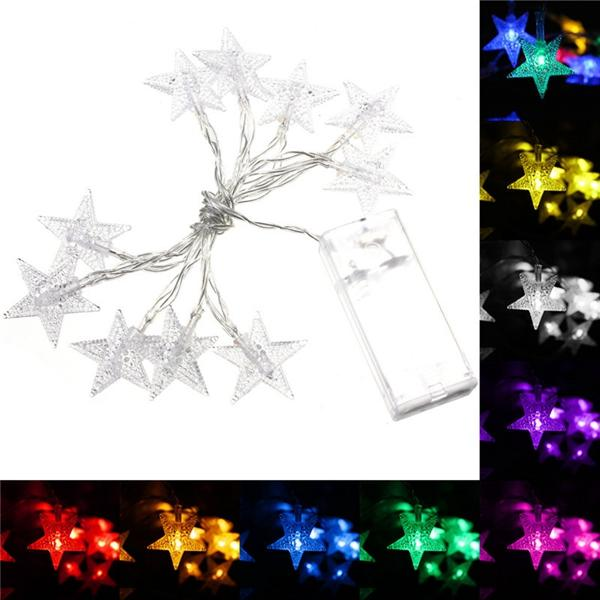 1M 10LEDs Fairy Light String LED Battery Power Romantic Star Party Xmas Garden Decor