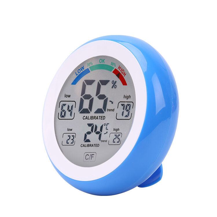 Multifunctional Digital Thermometer Hygrometer Temperature Humidity Meter Touch Screen Multicolor Min Value Trend Display ℃/℉
