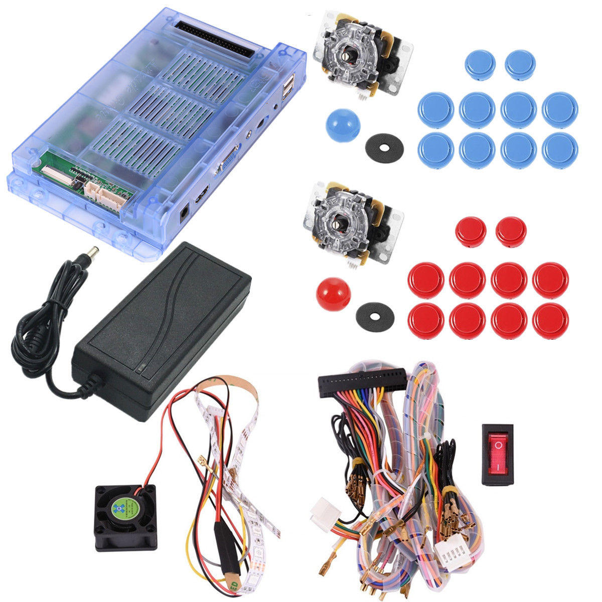 1299 In 1 Double Joystick Dual Player Push Button Game Board For Jamma Wiring Diagram Pandorabox 5s Console