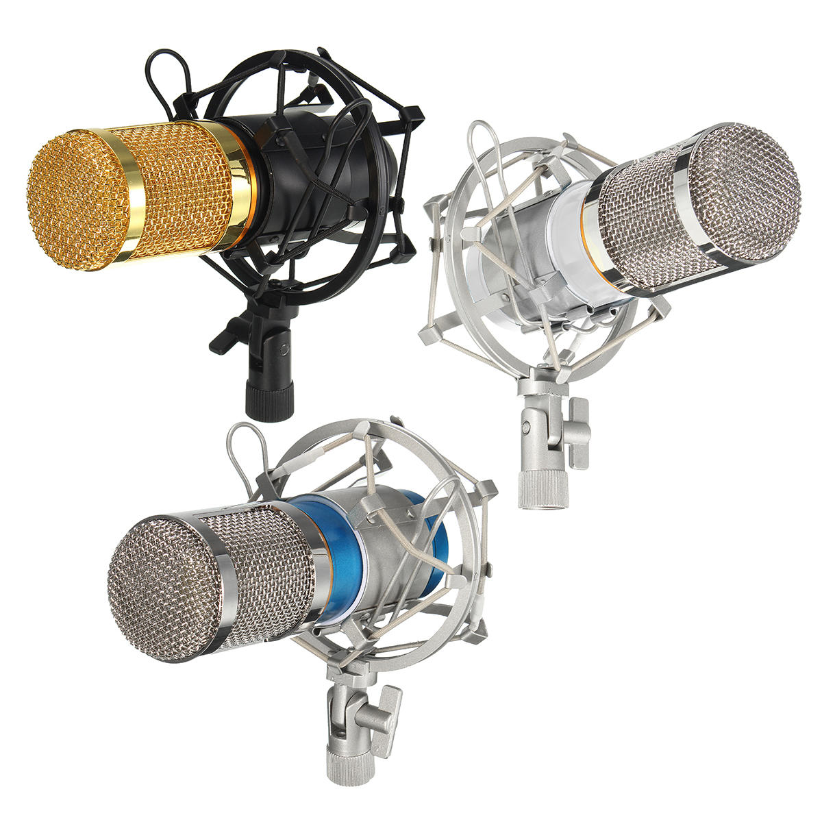 BM-800 Pro Condenser Dynamic Microphone Mic Sound Audio Studio Recording with Shock Mount COD