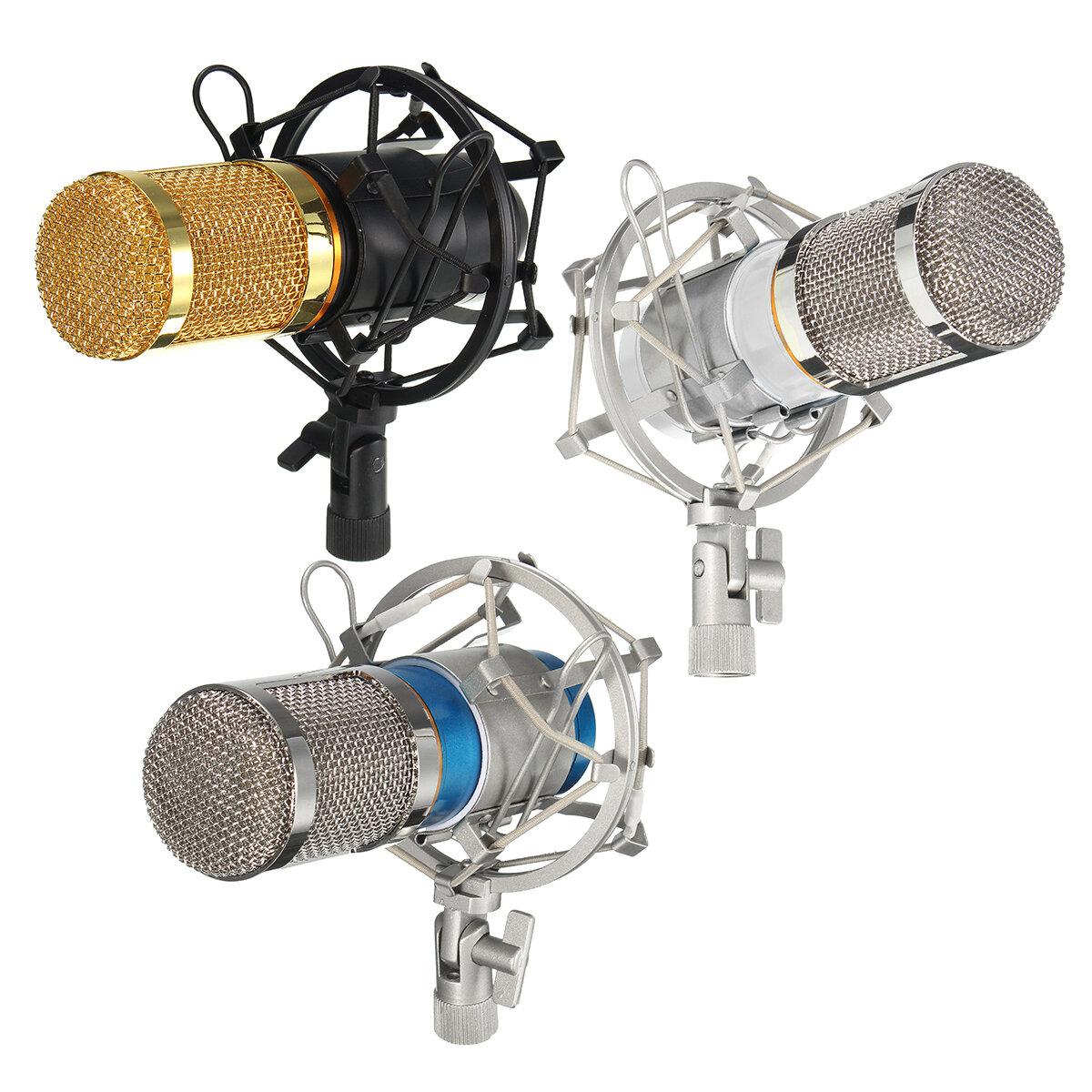 BM-800 Pro Condenser Dynamic Microfono Microfono Audio Studio Registrazione con montaggio a scossa