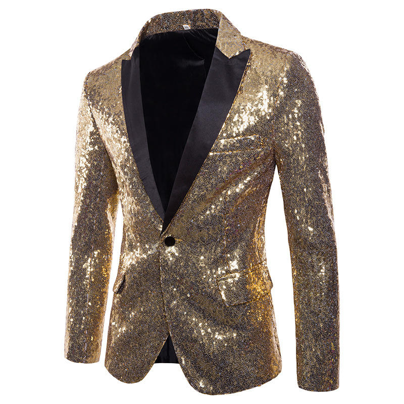 73deba5c7eb5 mens sequin dress suit palace wedding banquet stage blazer at Banggood