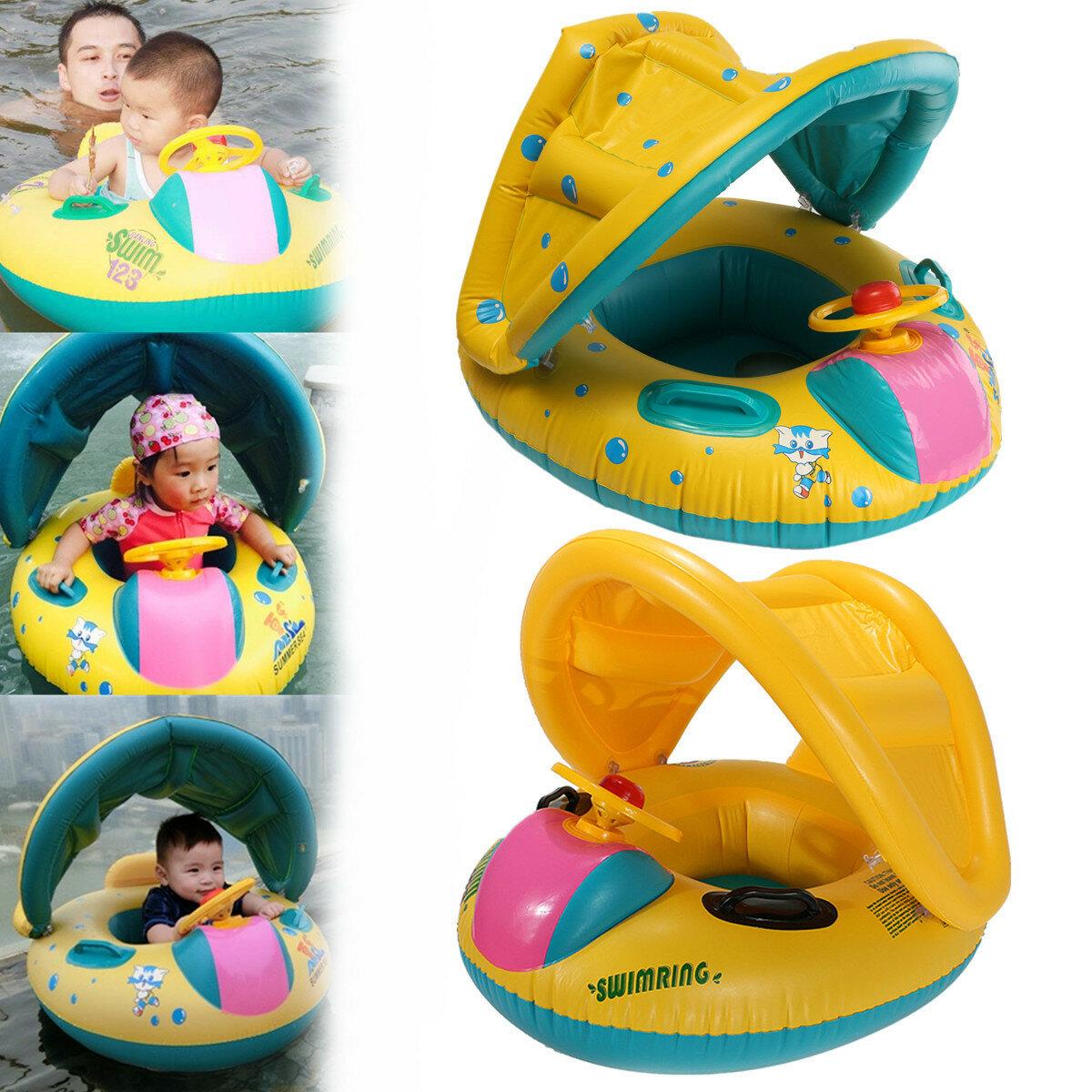 adjustable sunshade baby swim inflatable float seat boat swimming rh banggood com