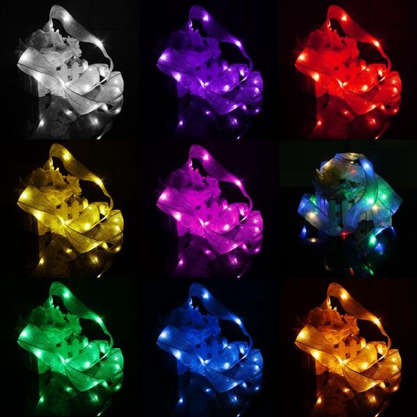 3M 30 LED ริบบิ้นสตริงไฟ Fairy แบตเตอรี่ Powered Party Xmas งานแต่งงาน โคมไฟตกแต่ง