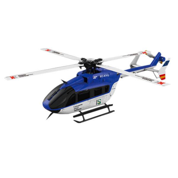 K124 xk 6ch sin escobillas 3d6g EC145 helicóptero rc sistema bnf