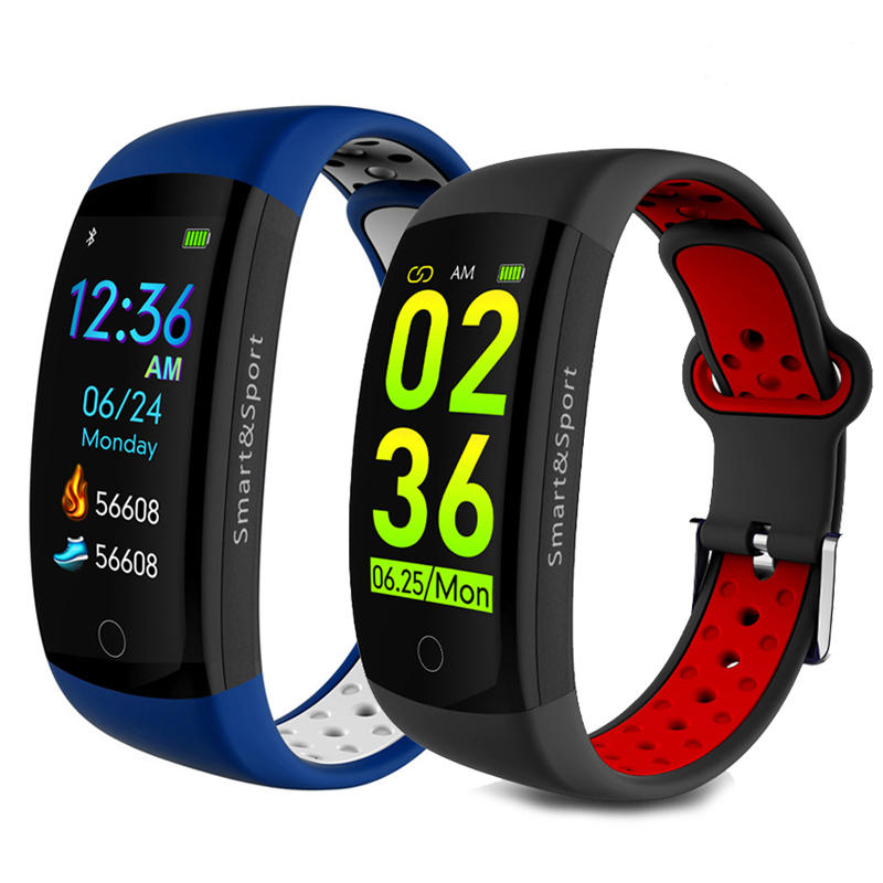 "XANES Q6S 0.96"" LCD Screen 3D Dynamic IP68 Waterproof Smart Bracelet Blood Pressure Heart Rate Monitor Smart Watch"