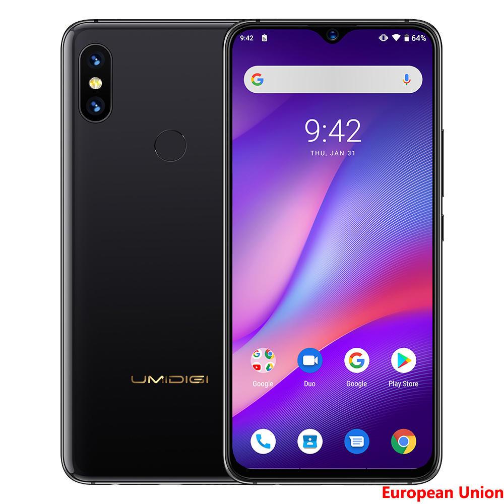 UMIDIGI S3 Pro 6.3 Inch FHD+ 5150mAh Android 9.0 48MP+12MP Dual Rear Cameras 6GB 128GB Helio P70 Octa Core 2.0GHz 4G Smartphone