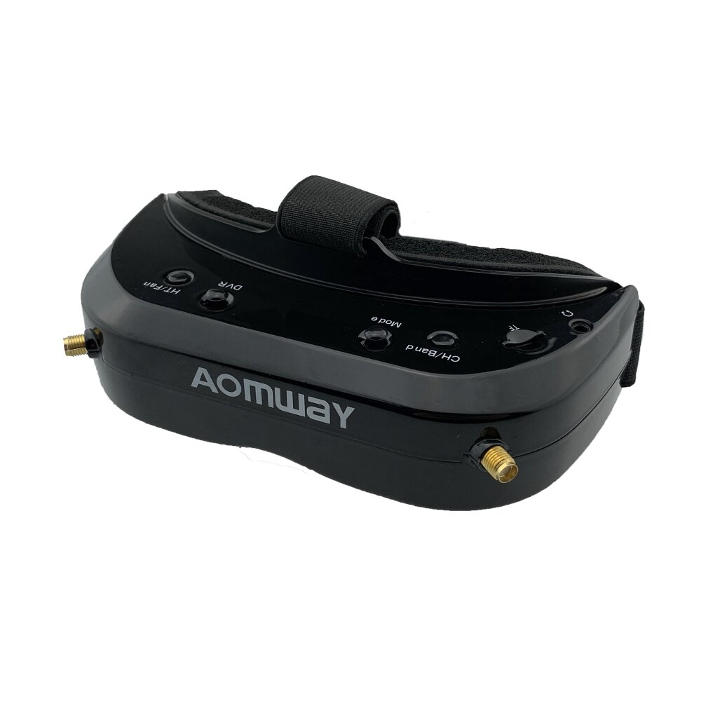 AOMWAY Commander V1S FPV Goggles 5.8Ghz 64CH Diversity 3D HDMI Built-in DVR Fan Support Head Tracking For RC Racing Drone(15%off coupon:BGAO1S)