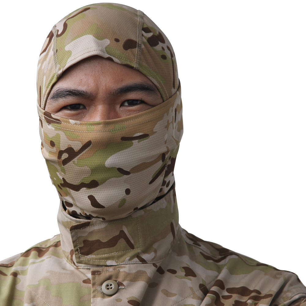 Tactical Full Face Mask Hood Headgear Caps Camouflage Hunting Hat Winter Neck Scarf