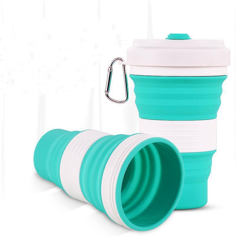 IPRee® 350ml Силиконовый Складная чашка Портативная телескопическая бутылка для воды с питьевой водой