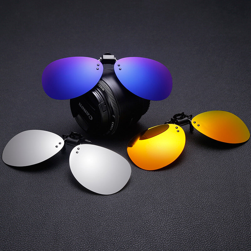 Clip-on Night Vision UV400 Polarized Lens Glasses Outdoor Driving Sunglasses