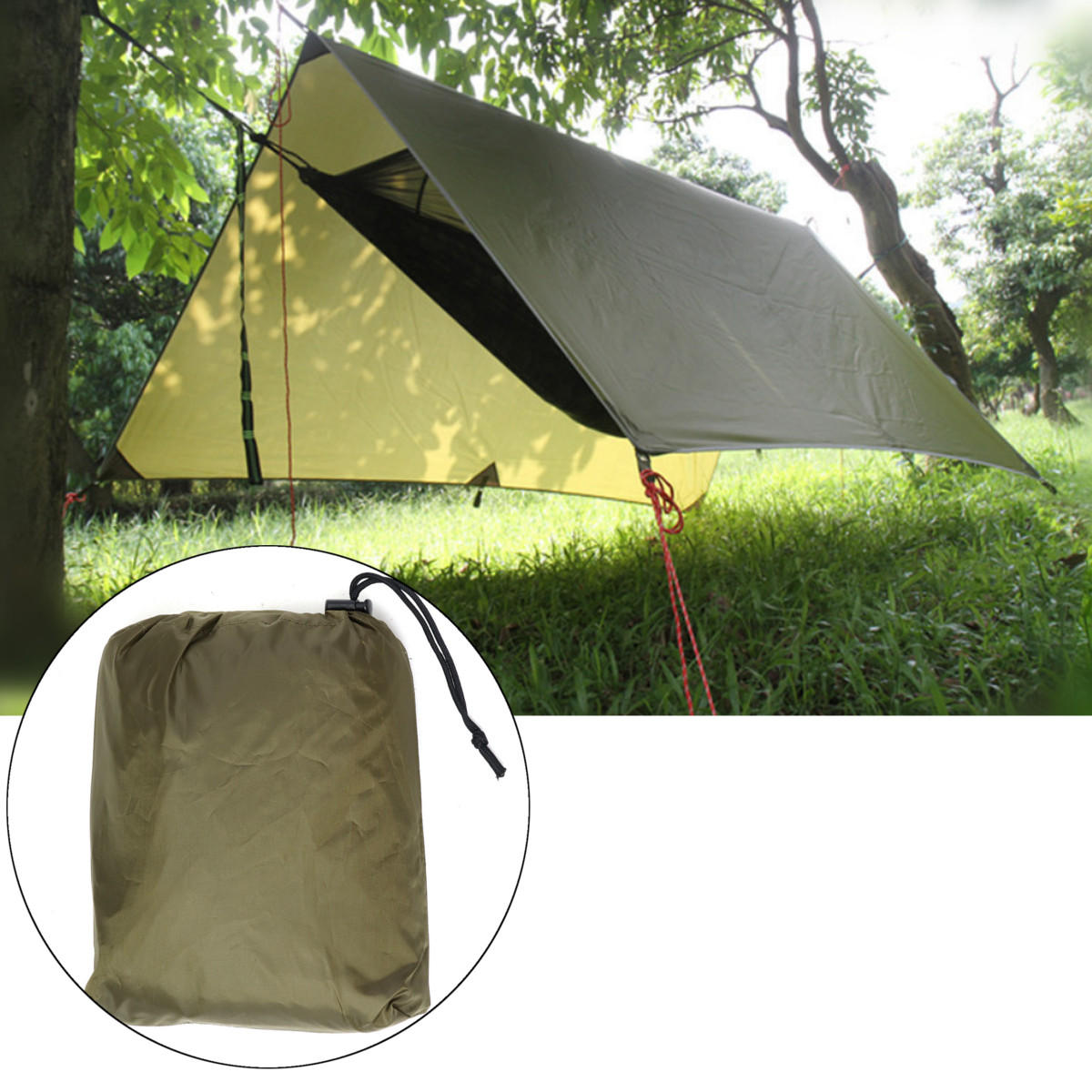 Outdoor C&ing Tent Sunshade Canopy Waterproof Anti-UV Beach Hammock Awning Shelter Tarp COD  sc 1 st  Banggood & outdoor camping tent sunshade canopy waterproof anti-uv beach ...