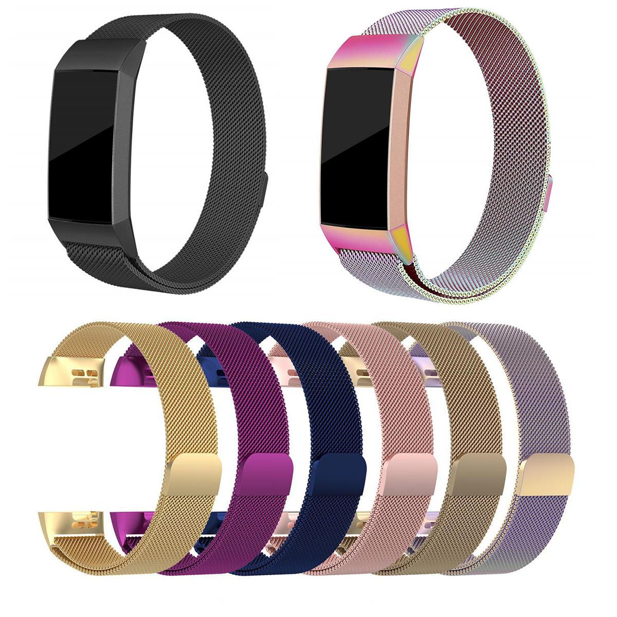 Bakeey Металлические часы из нержавеющей стали Milanese Loop Стандарты Ремешок для Fitbit Charge 3