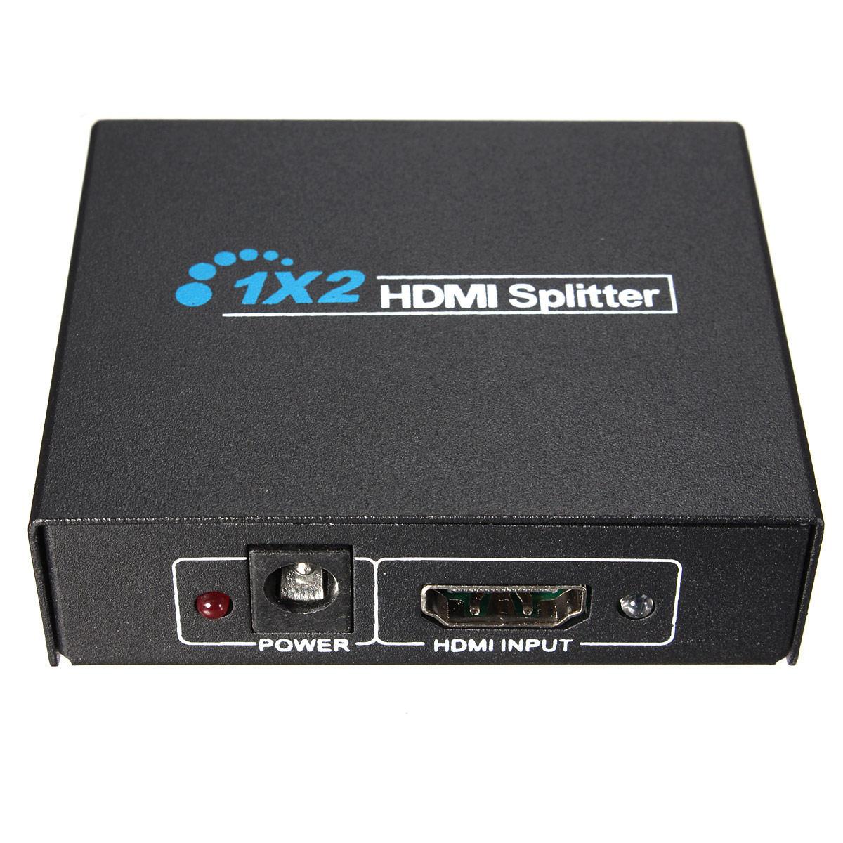 HD 1x2 Port HD Splitter Amplifier Repeater 3D 1080P Switch Box Hub ...