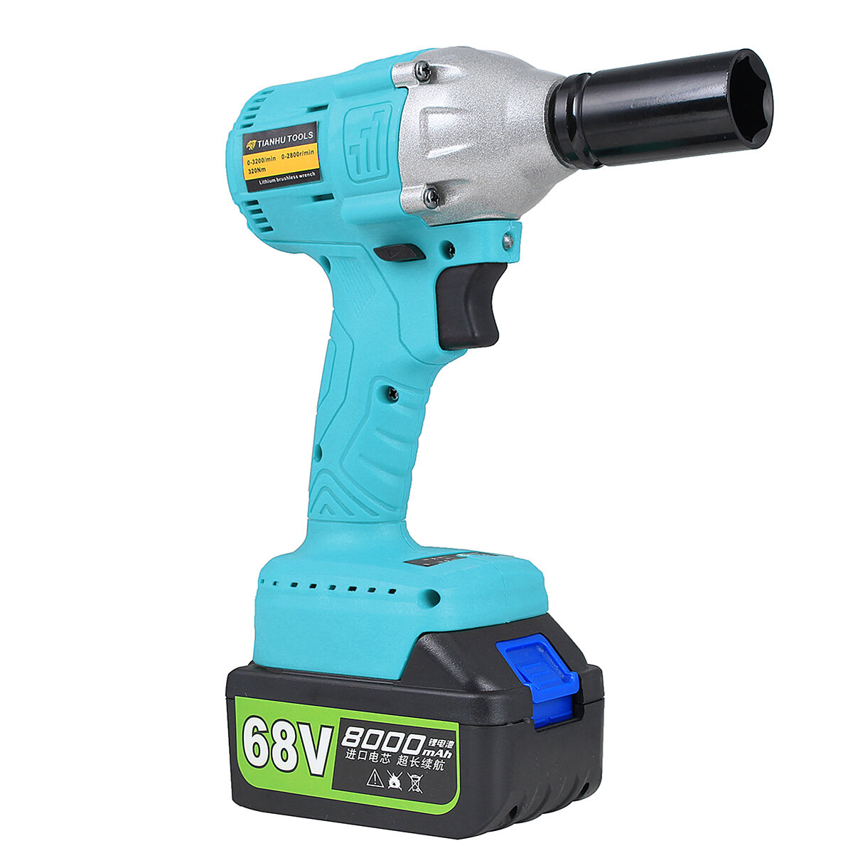 8000mah 68v Lithium Ion Brushless Cordless High Torque Square Drive Impact Wrench Cod