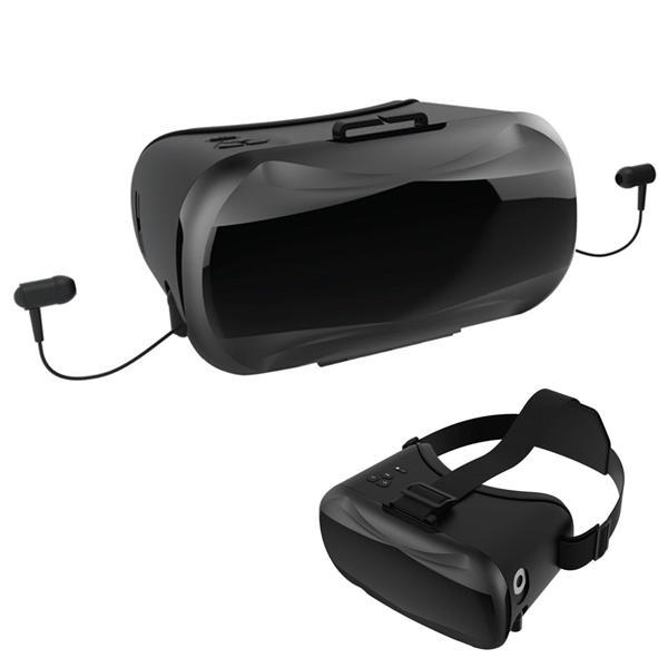 VR V5-2 Virtual Reality 3D Occhiali Auricolare con cuffia stereo / microfono per il telefono cellulare